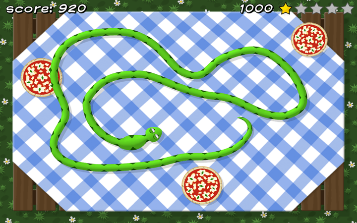 Pizza Snake screenshot - Level 1: Classic