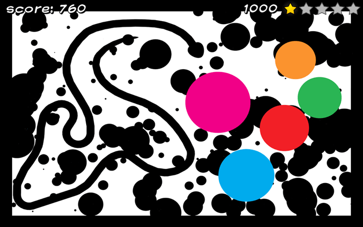 Pizza Snake screenshot - Level 7: Abstract
