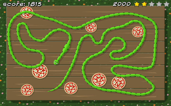 Pizza Snake screenshot - Level 8: Big Classic
